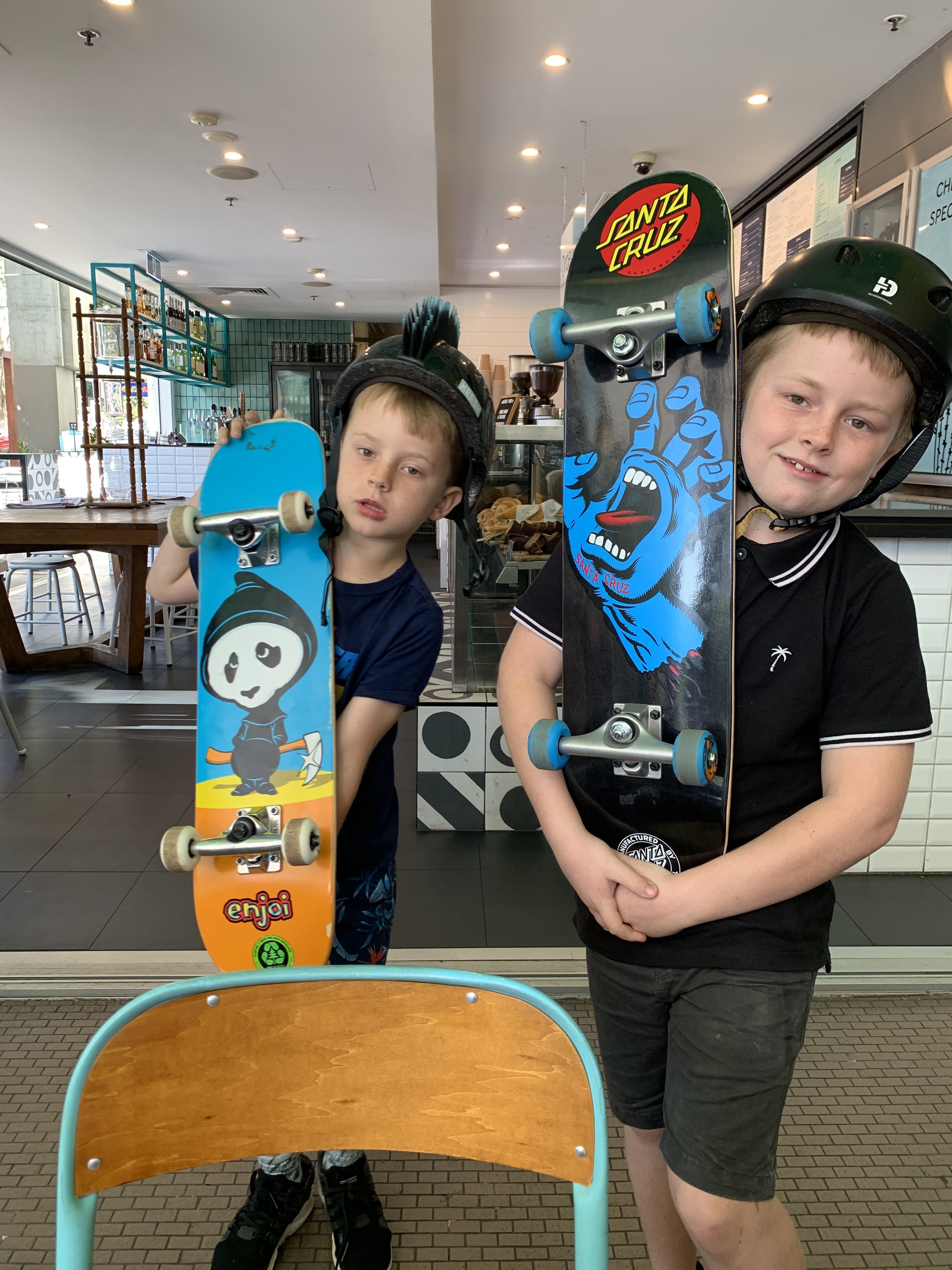 School holidays are for skateboards